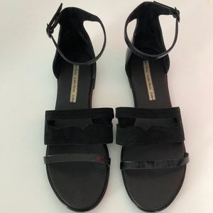 093589a34506 Other Stories Shoes -   Other Stories Black Ankle Strap Flat Sandals